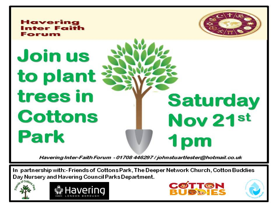 Interfaith Forum - Planting a tree flyer